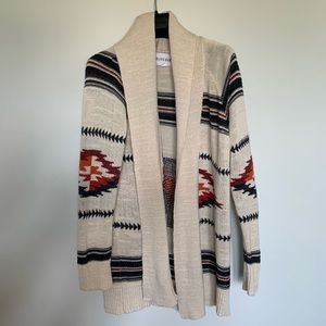 Olive and Oak Tribal Print Cardigan Size Medium